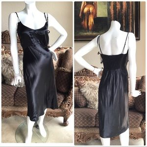 New $298 DKNY Black Slip Dress sz 8